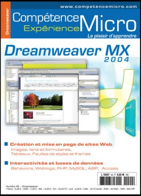 Booklet's front page - Dreamweaver MX 2004