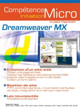 Booklet's front page - Dreamweaver MX