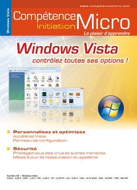Booklet's front page - Windows Vista - panneau config