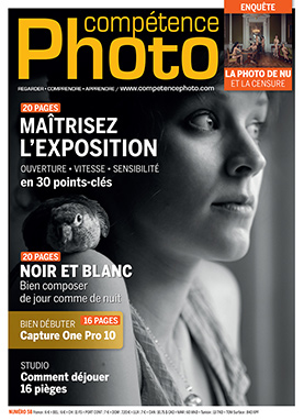 Booklet's front page - Compétence Photo 58 : L'exposition • Composer en noir et blanc • Capture One Pro 10 • Photo de nu
