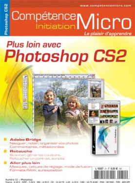 Booklet's front page - Plus loin avec Photoshop CS2